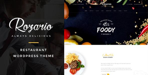 Rozario v1.2 — Restaurant & Food WordPress Theme