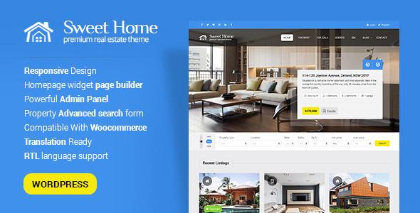Sweethome v1.5.2 — Responsive Real Estate WordPress Theme
