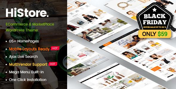 HiStore v1.0.1 — Clean Fashion, Furniture eCommerce & MarketPlace