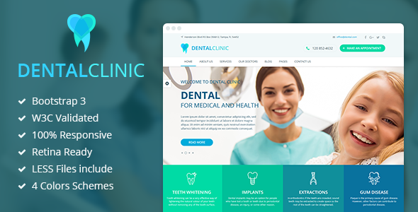 DentalClinic — Responsive Clinic HTML Template