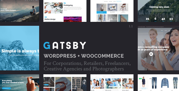 Gatsby v1.1 — WordPress + eCommerce Theme