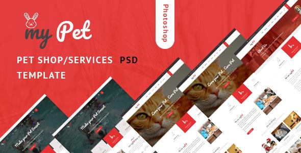 MyPet — Pet Shop & Veterinary PSD Template