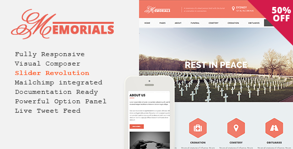 Memorials v2.3.0 — Responsive Funeral WordPress Theme