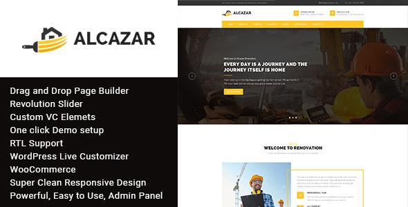 Alcazar — Construction, Renovation & Building WordPress Theme