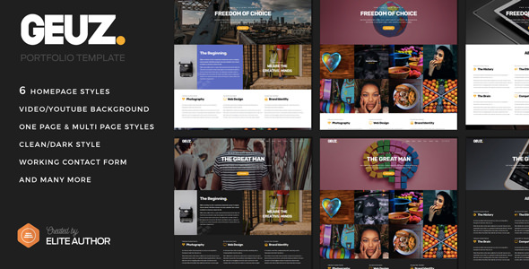 Geuz — Responsive One Page Portfolio Template