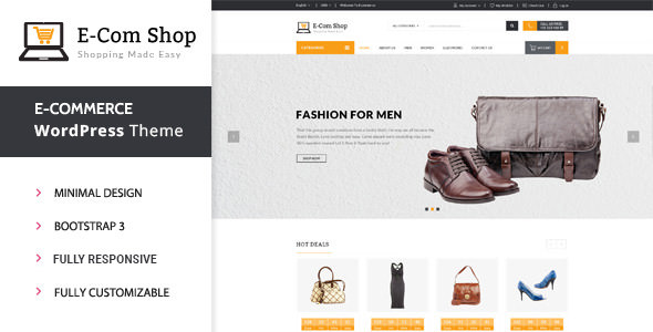eCom v1.0.7 — Responsive WooCommerce WordPress Theme