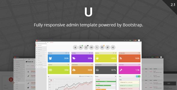 uAdmin v2.1 — Responsive Admin Dashboard Template