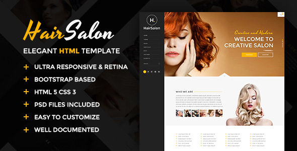 Hair Salon v1.0 — Elegant HTML Template