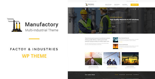 Manufactory v1.0 — Multi-Industrial WordPress Theme