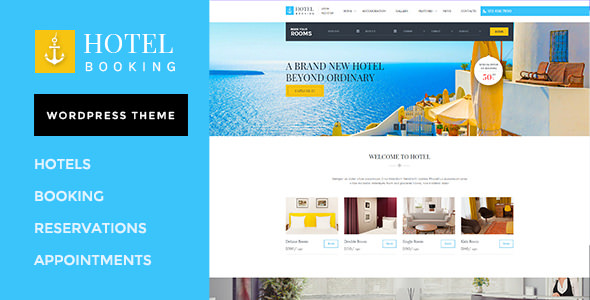 Hotel Booking v1.3 — WordPress Theme for Hotels
