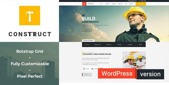Construct v1.3.2 — Construction, Building WordPress Theme