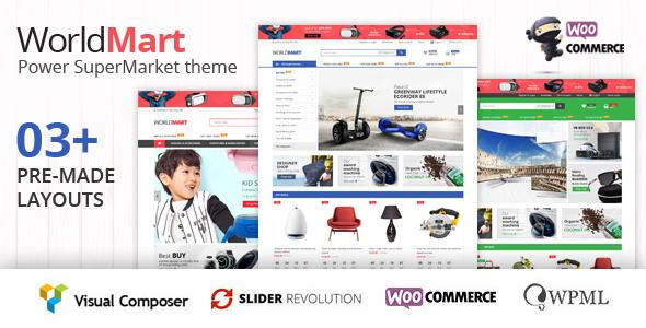 Worldmart v1.1.1 — WooCommerce WordPress Theme