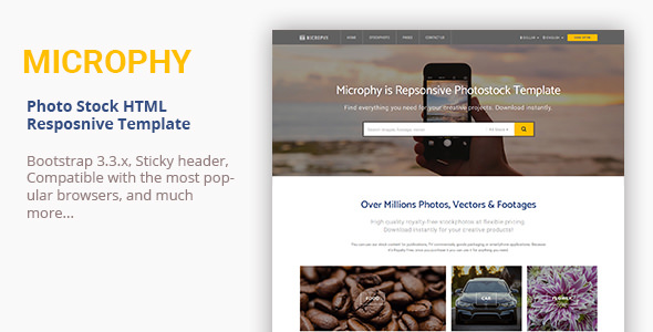 Microphy — HTML Responsive Template for Stock Photo