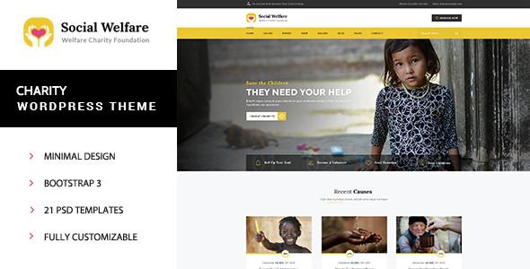 Social Welfare v1.2 — Charity WordPress Theme