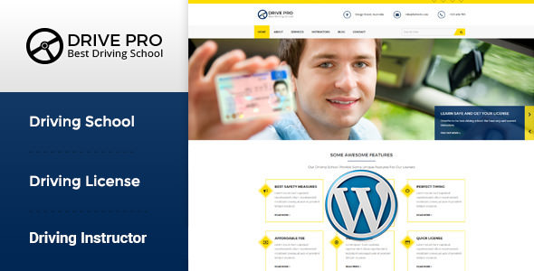 Drive Pro v1.2.1 — Driving School WordPress Theme