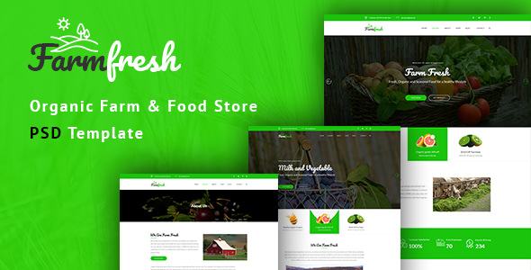 Farm Fresh — Organic Food & Eco Farm PSD Template