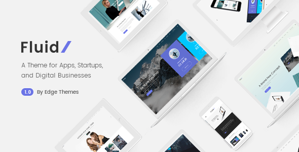 Fluid v1.2 — A Theme for Apps, Startups, and Digital Businesses