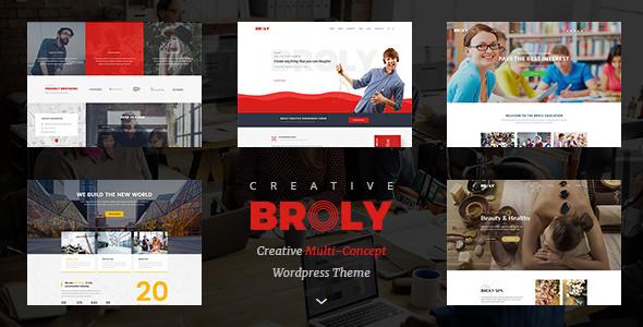 Broly v1.0.3 — Creative Multi-Concept WordPress Theme