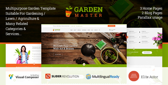 Garden Master v1.3.0 — WordPress Agriculture and Lawn Shop theme