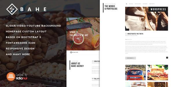 Bahe v1.1 — Responsive One Page Portfolio Theme