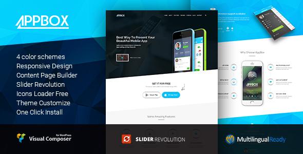 AppBox v1.3.5 — App Landing and App Store WordPress Theme