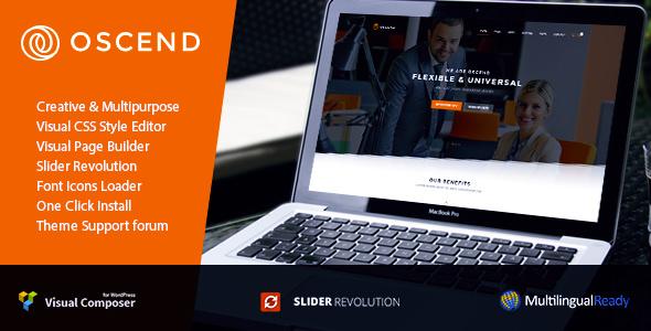 Oscend pluse v2.01 — WordPress Theme