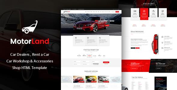 MOTORLAND v1.0 — Car Dealer HTML Template