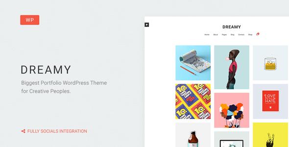 Dreamy v1.4 — Biggest Portfolio WordPress Theme