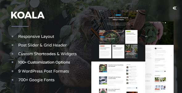 Koala v3.2.1 — Responsive WordPress Blog Theme
