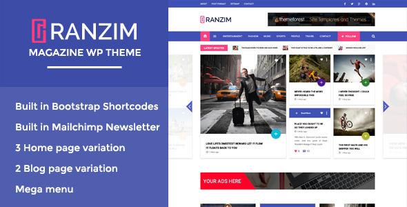 Ranzim v1.0 — Responsive Magazine WordPress Theme