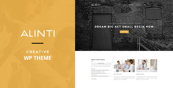 Alinti v1.1 — Minimal Creative WordPress Portfolio