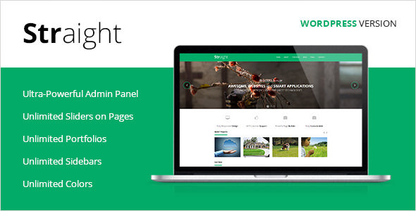 Straight v1.3.1 — Multipurpose WordPress Theme