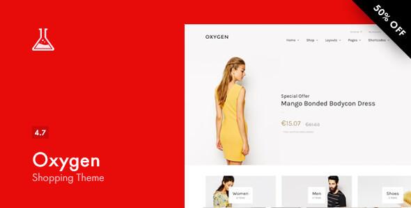 Oxygen v4.7 — WooCommerce WordPress Theme