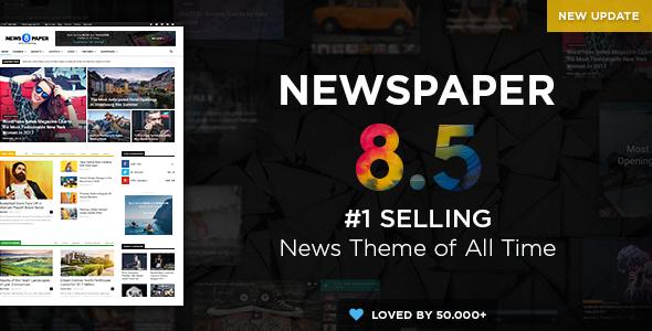 Newspaper v8.5.1 — WordPress News Theme