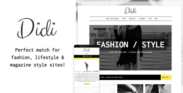 Didi v1.0.6 — Fashion Blog WordPress Theme