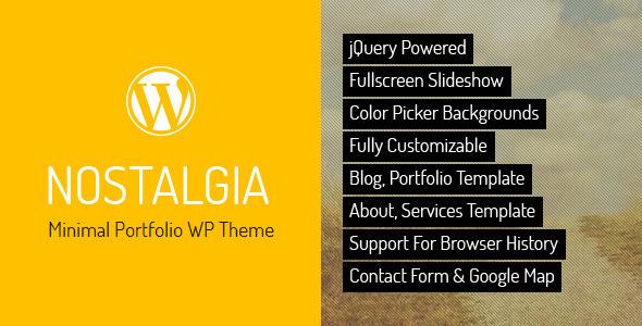 Nostalgia v7.1 — Responsive Portfolio WordPress Theme