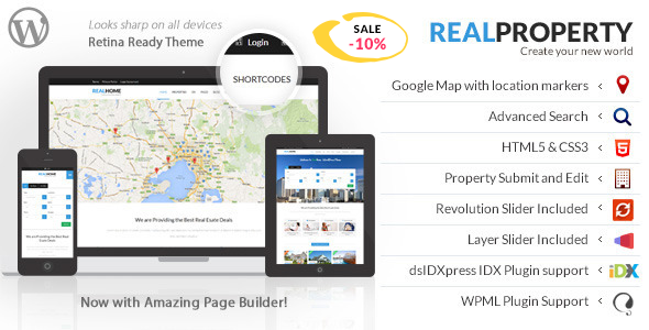 Real Property v1.8.9 — Responsive Real Estate WP Theme