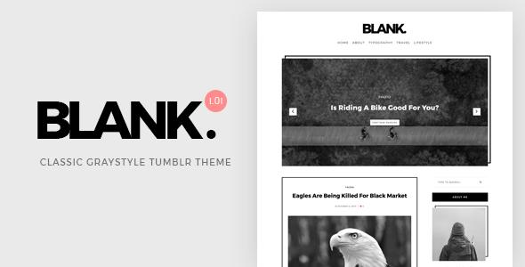Blank v1.00 — Gray-style Classic Tumblr Theme