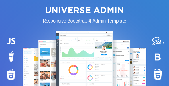 UniverseAdmin — Powerful & Responsive Bootstrap 4 Admin Template — Updated