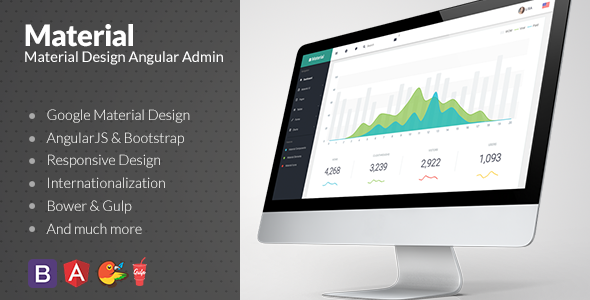 Material v1.4.0 — Material Design Admin with AngularJS