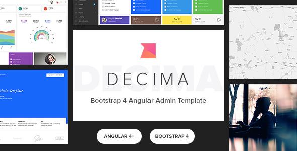 Decima v2.0.0 — Bootstrap 4 Angular 5 Admin Template