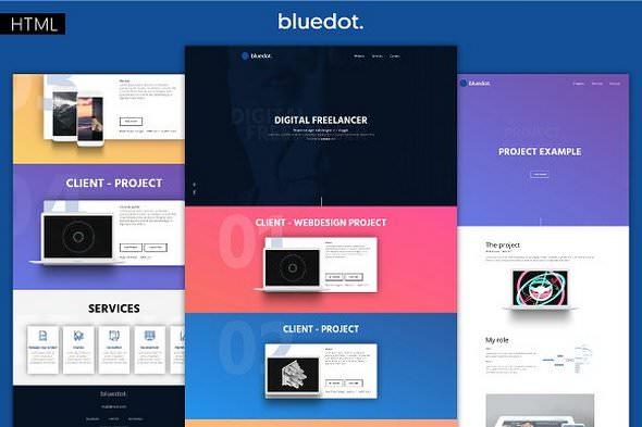 Bluedot v1.0 — Minimal Portfolio Template