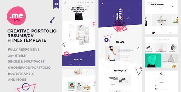 Me v1.3 — Creative Portfolio and Resume / CV HTML5 Template