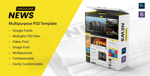 News Magazine — Multipurpose News Magazine PSD Template