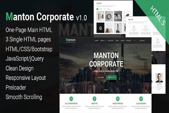 Manton Corporate v1.0 — Template HTML 5