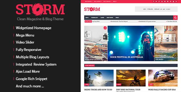 Storm v1.3.2 — Clean Magazine & Blog Theme