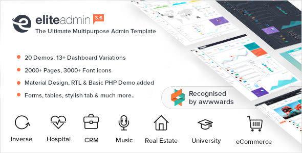 Elite Admin v3.5 — Multipurpose Bootstrap 4 Admin Template