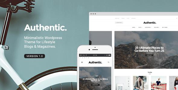 Authentic v3.1.0 — Lifestyle Blog & Magazine WordPress Theme