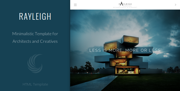 Rayleigh v1.0 — A Responsive Minimal Architect Template