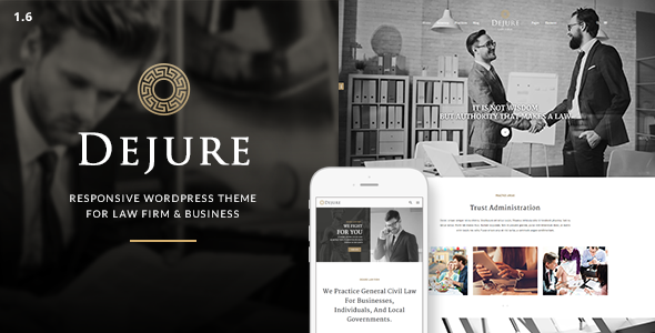 Dejure v1.5.10 — Responsive WP Theme for Law firm & Business